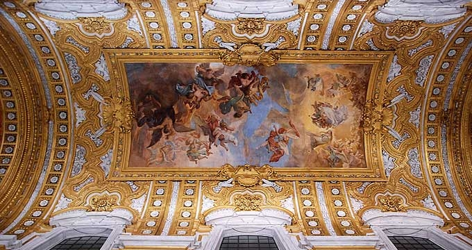 The fall of the rebellious angels, a fresco by Giacinto Brandi